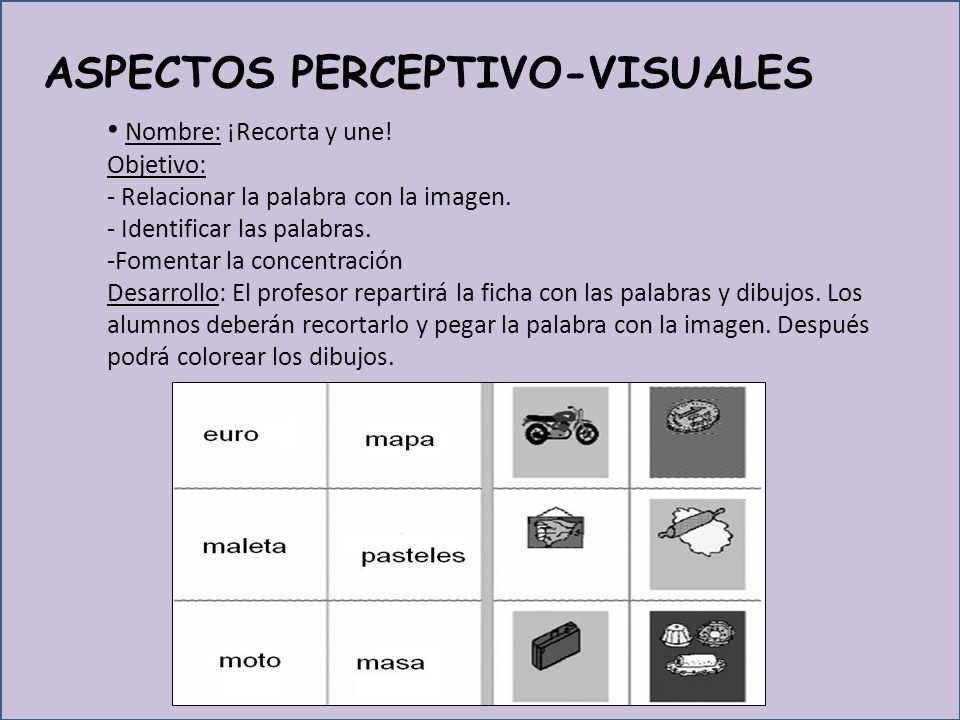 ASPECTOS PERCEPTIVO-VISUALES