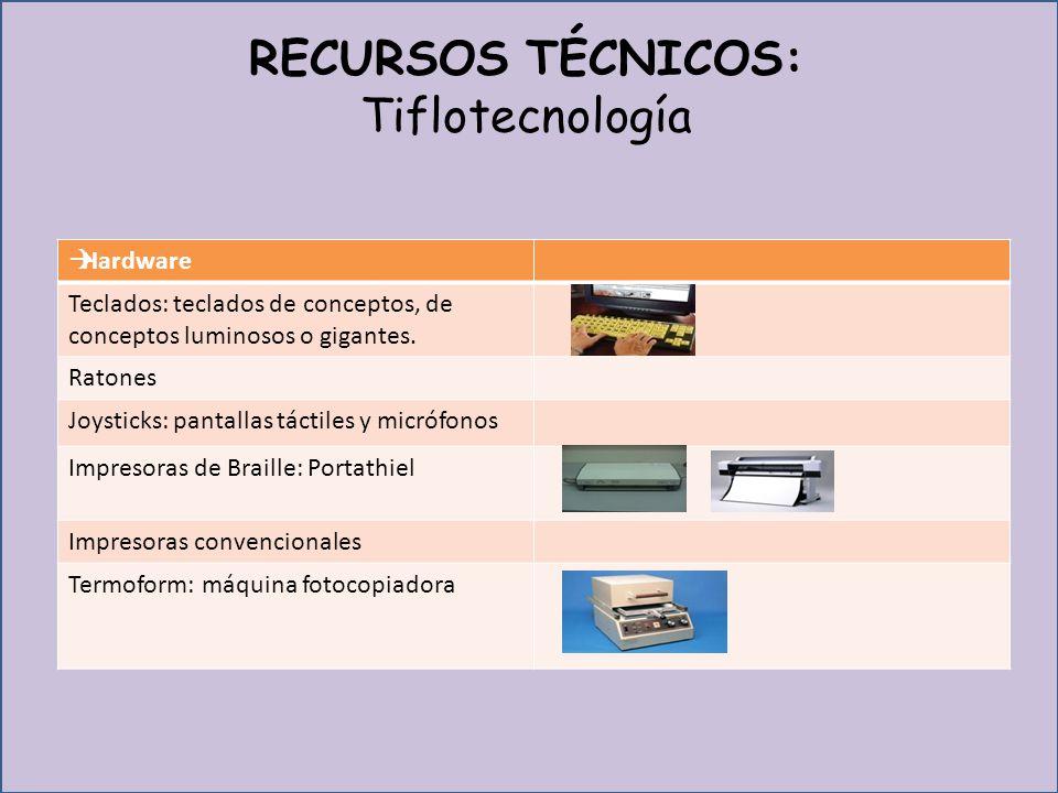 RECURSOS TÉCNICOS: Tiflotecnología