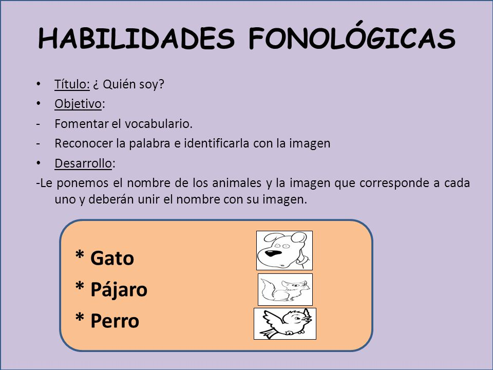 HABILIDADES FONOLÓGICAS