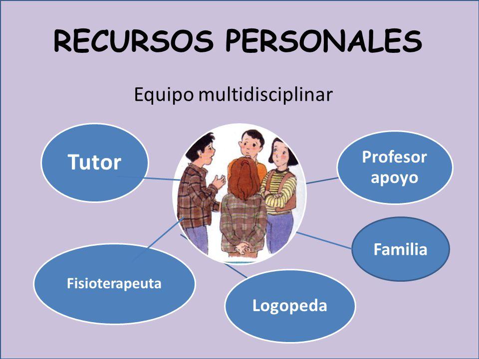 RECURSOS PERSONALES Tutor Equipo multidisciplinar Profesor apoyo