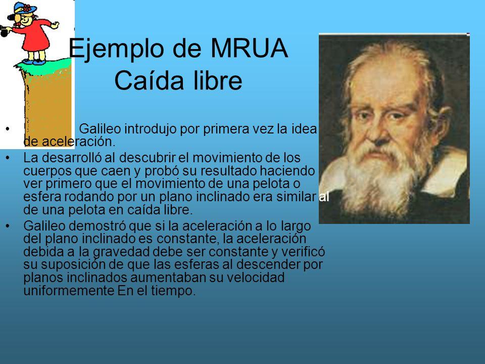 Ejemplo de MRUA Caída libre