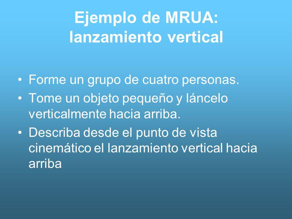 Ejemplo de MRUA: lanzamiento vertical