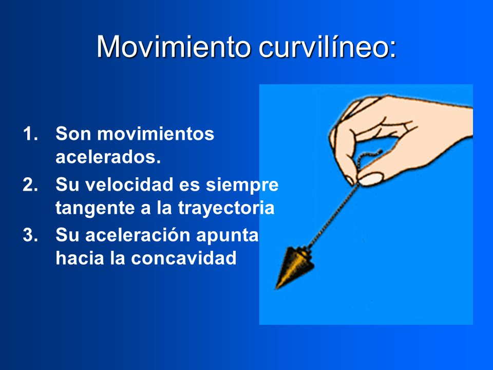 Movimiento curvilíneo: