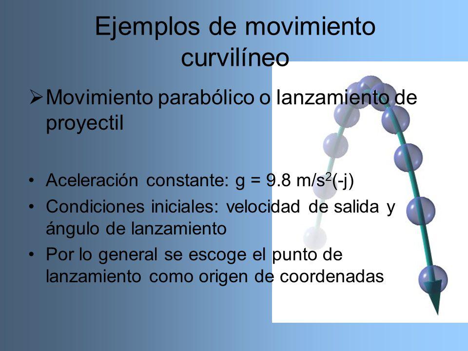 Ejemplos de movimiento curvilíneo