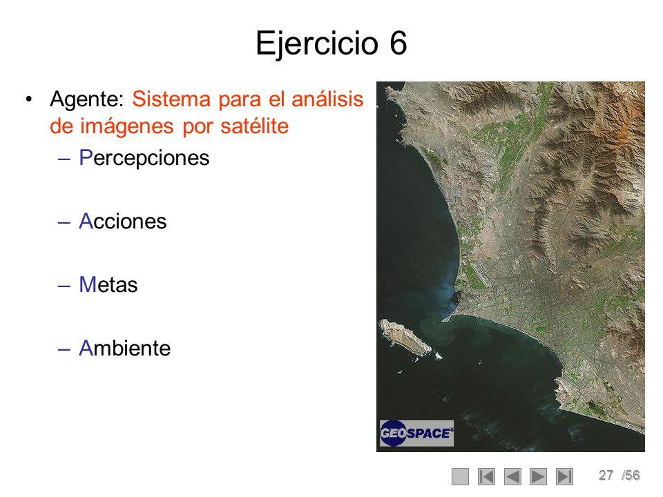 Ejercicio 6 Agente: Sistema para el análisis de imágenes por satélite