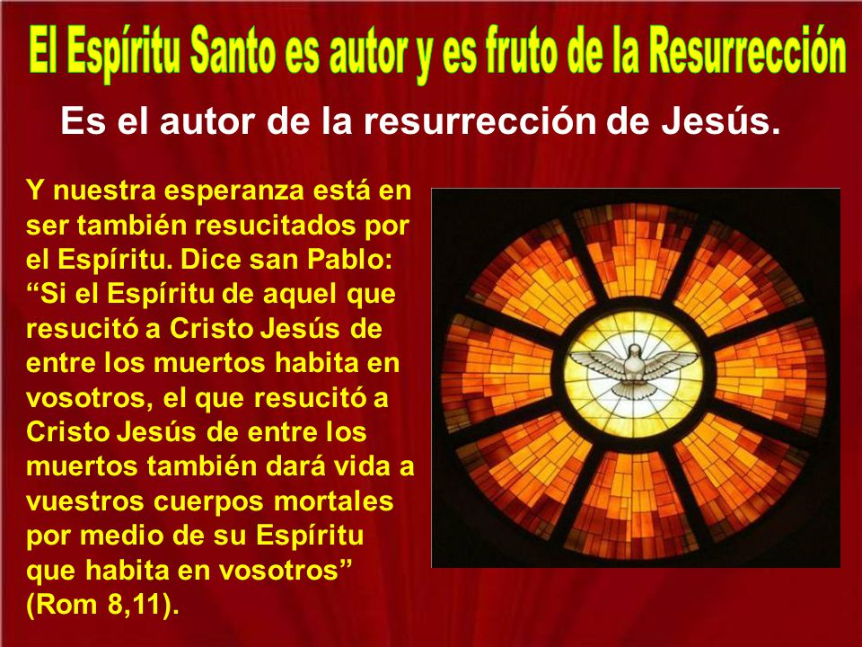 El Espíritu Santo es autor y es fruto de la Resurrección