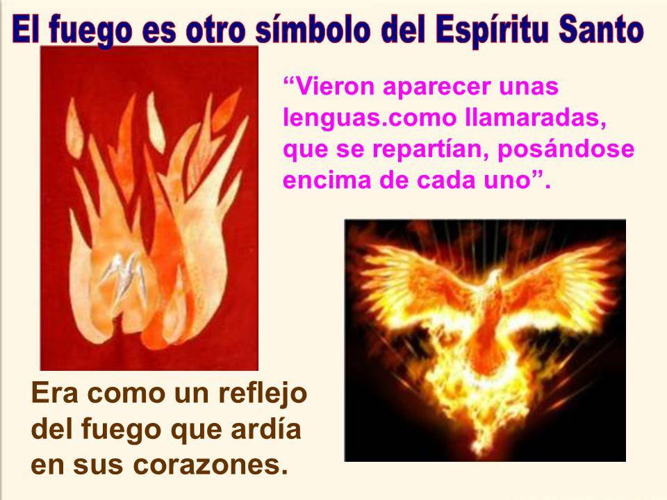 El fuego es otro símbolo del Espíritu Santo