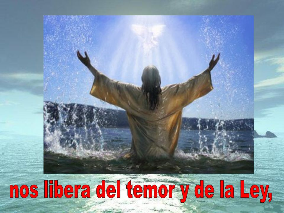 nos libera del temor y de la Ley,