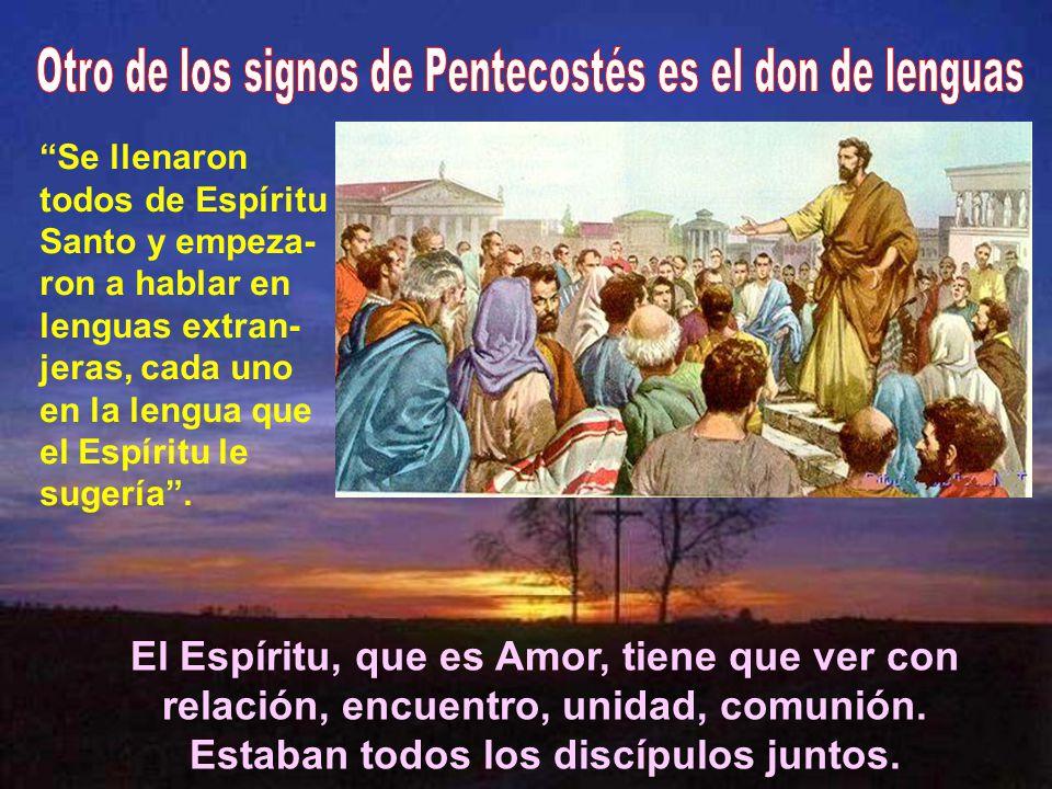 Otro de los signos de Pentecostés es el don de lenguas