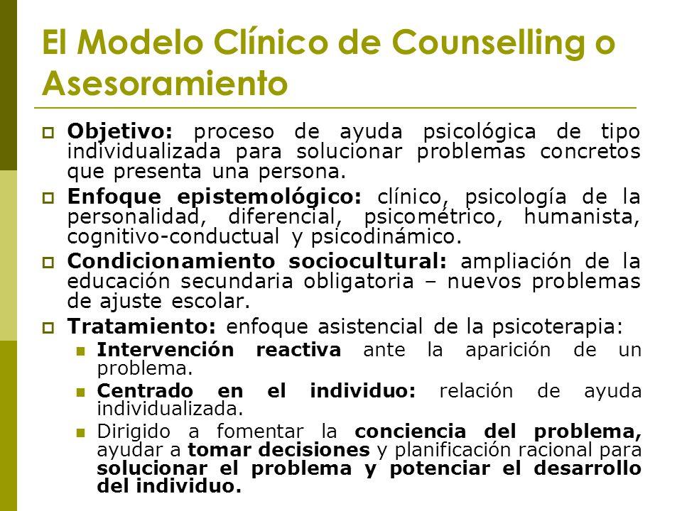 El Modelo Clínico de Counselling o Asesoramiento