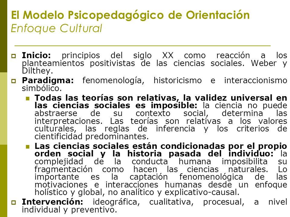 El Modelo Psicopedagógico de Orientación Enfoque Cultural