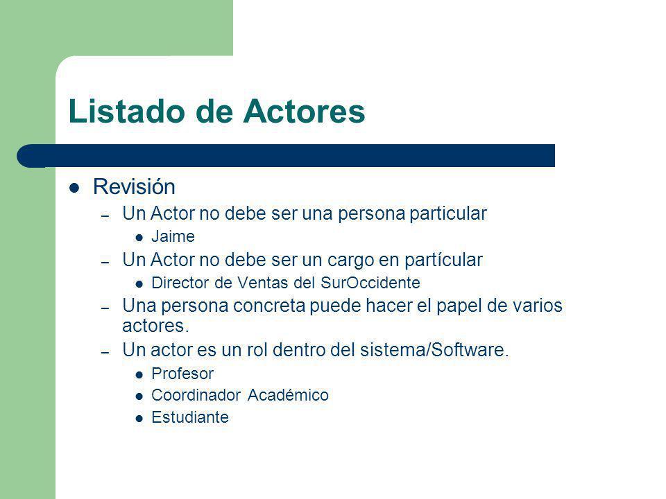 Listado de Actores Revisión