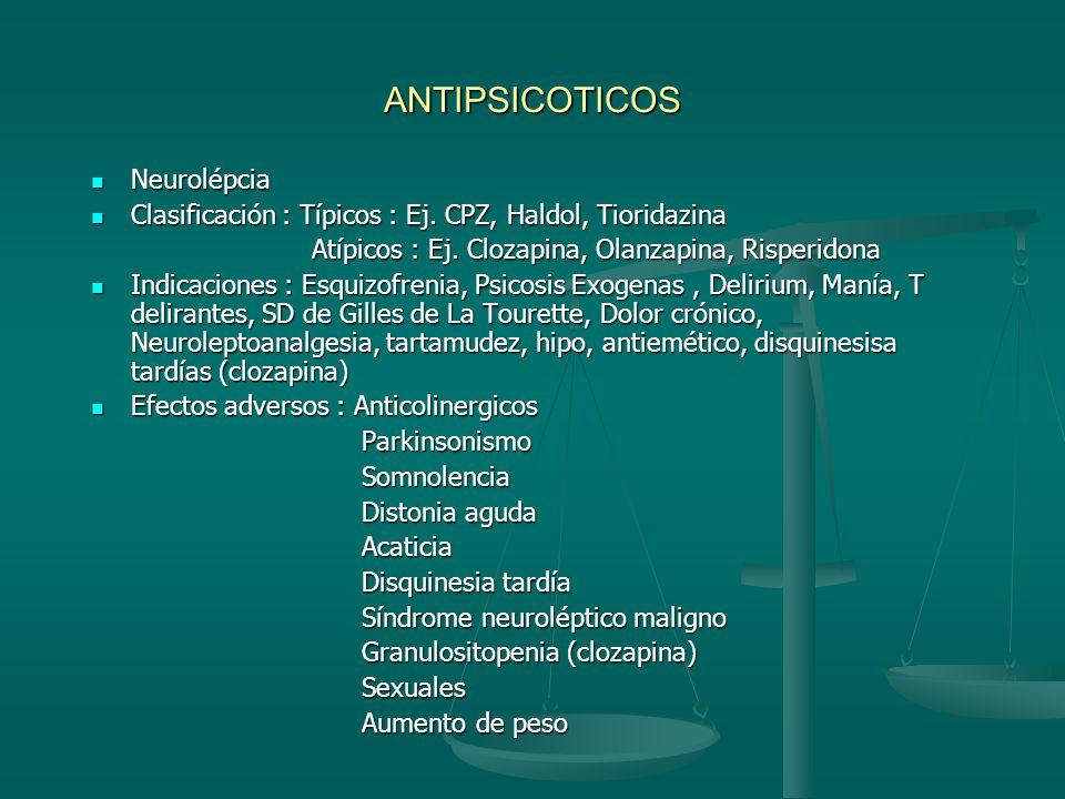 ANTIPSICOTICOS Neurolépcia
