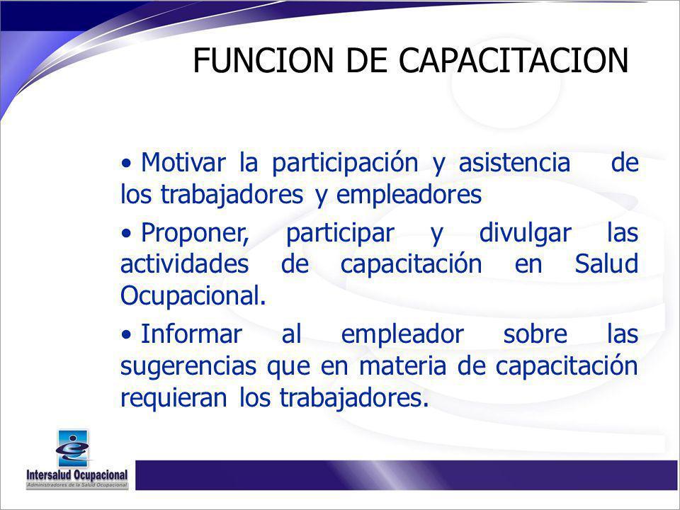 FUNCION DE CAPACITACION