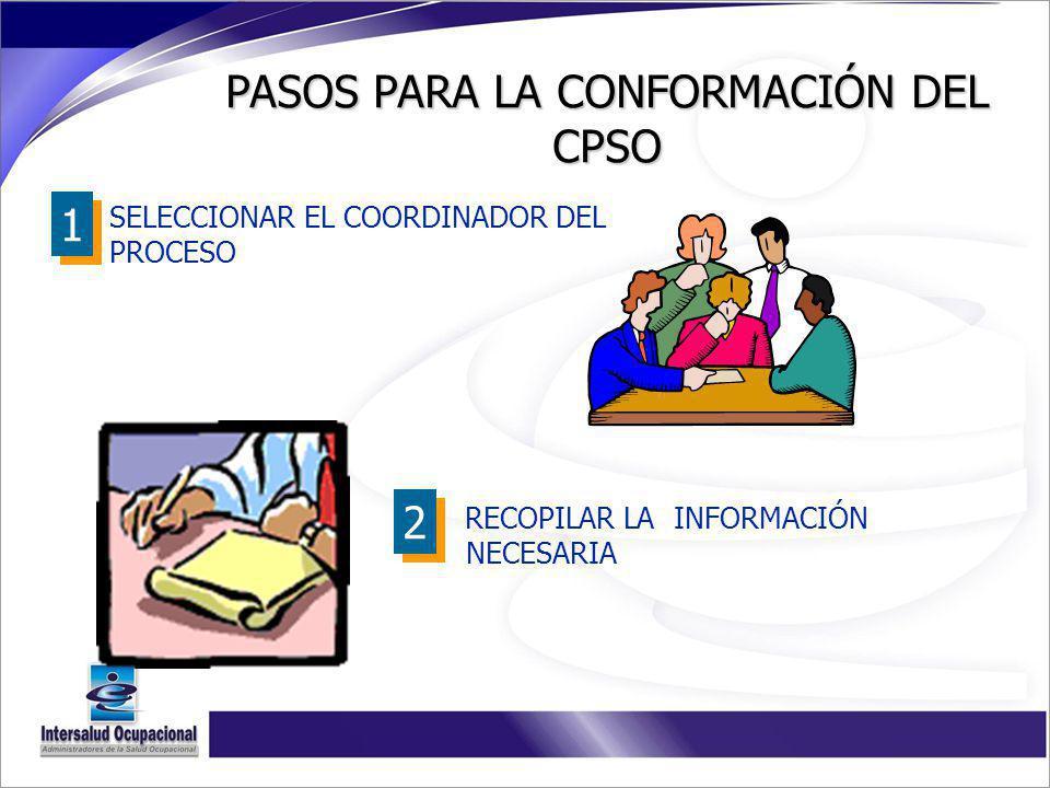 PASOS PARA LA CONFORMACIÓN DEL CPSO