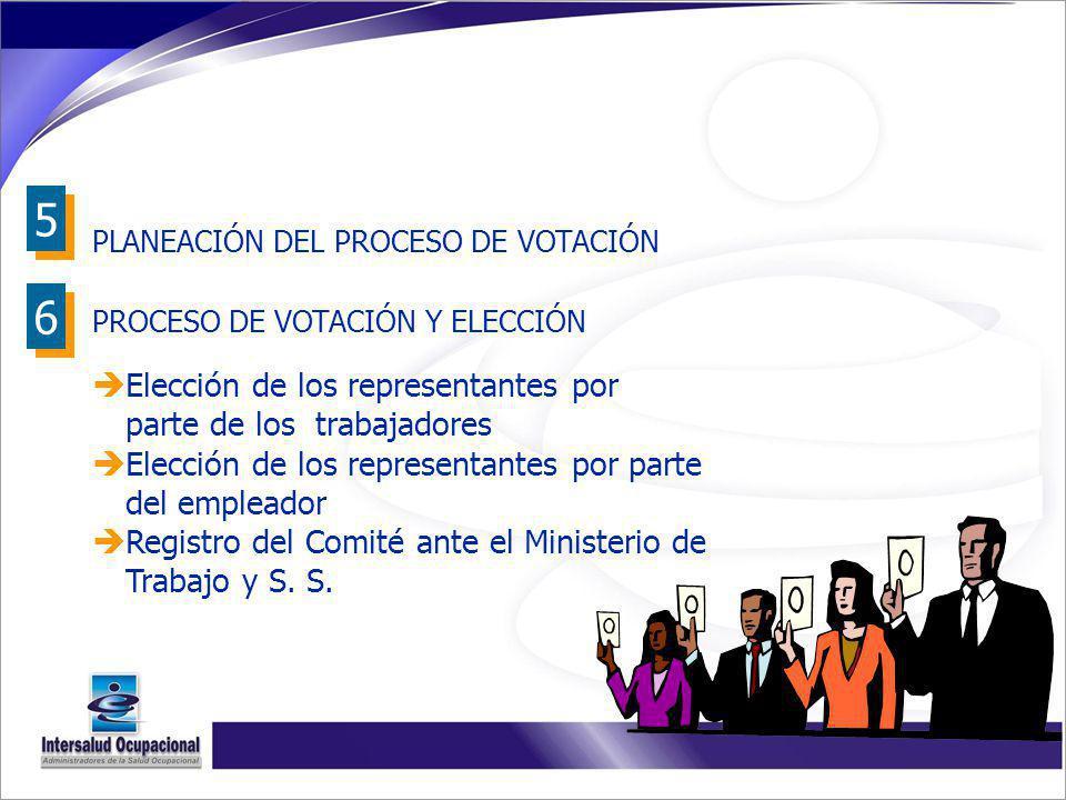 5 6 Elección de los representantes por parte de los trabajadores