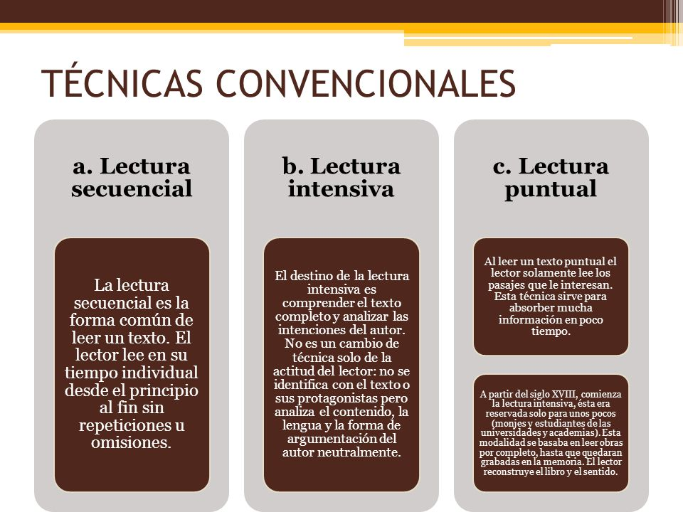 TÉCNICAS CONVENCIONALES