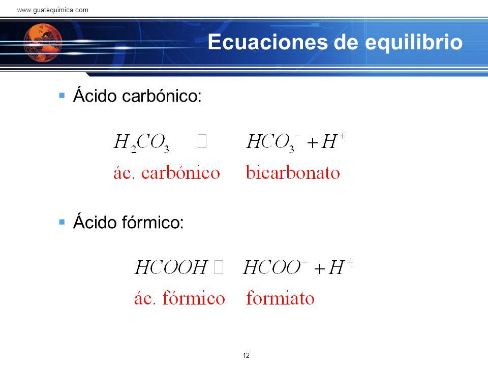 Ecuaciones de equilibrio