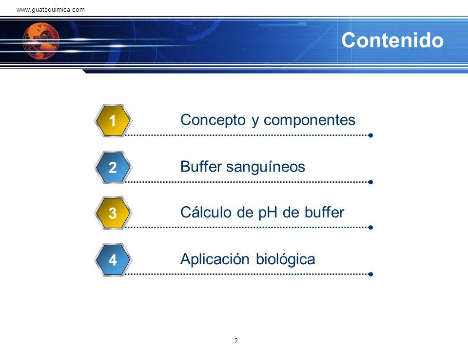 Contenido 1 Concepto y componentes 2 Buffer sanguíneos 3
