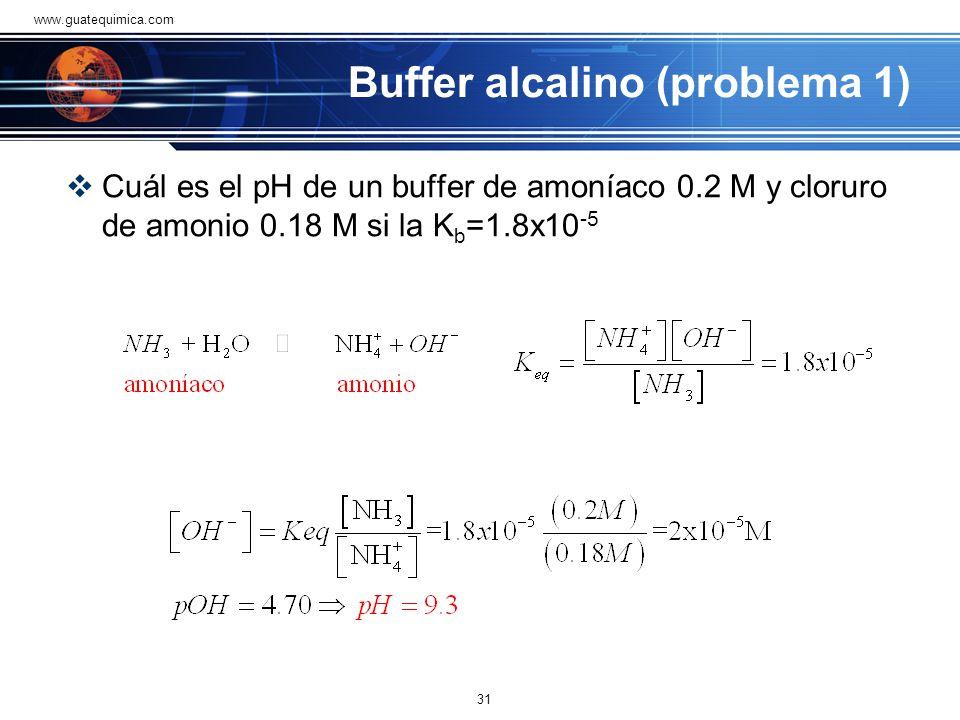 Buffer alcalino (problema 1)