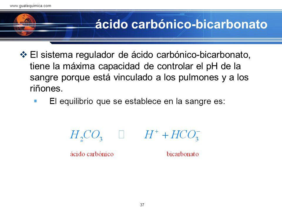 ácido carbónico-bicarbonato