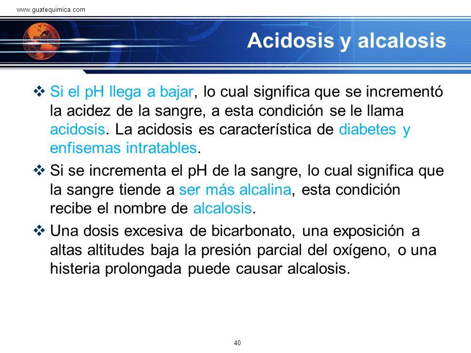 www.guatequimica.com Acidosis y alcalosis.