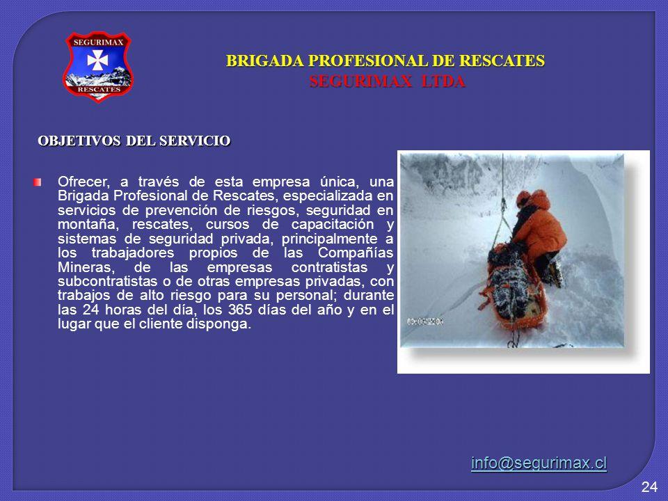 BRIGADA PROFESIONAL DE RESCATES OBJETIVOS DEL SERVICIO