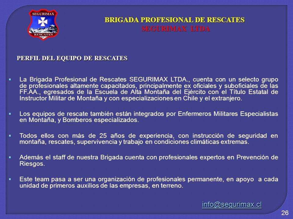 BRIGADA PROFESIONAL DE RESCATES PERFIL DEL EQUIPO DE RESCATES