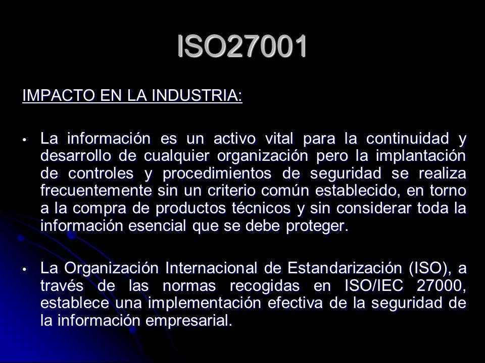 ISO27001 IMPACTO EN LA INDUSTRIA: