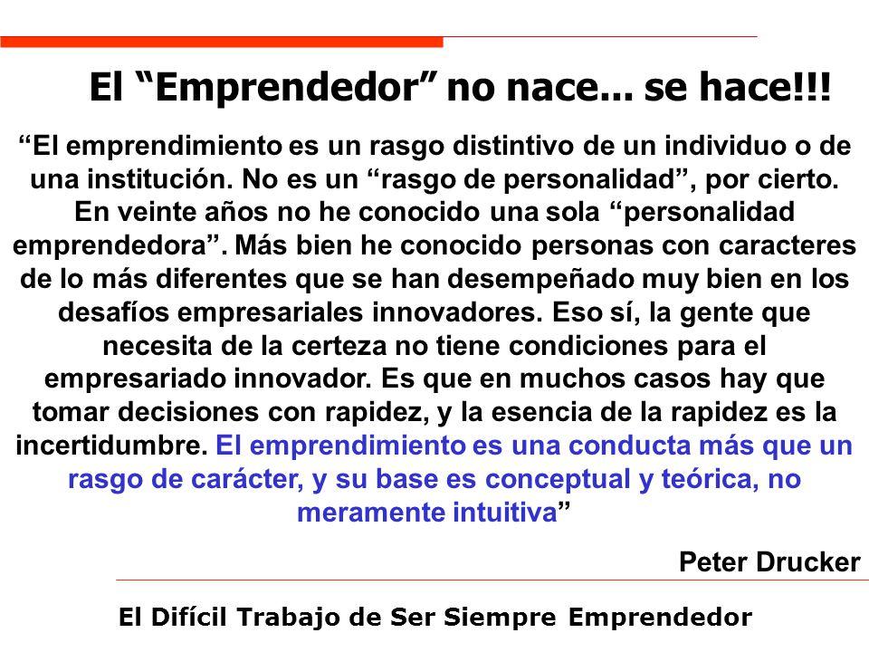 El Emprendedor no nace... se hace!!!