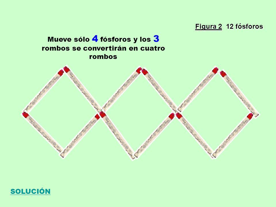 Mueve sólo 4 fósforos y los 3 rombos se convertirán en cuatro rombos