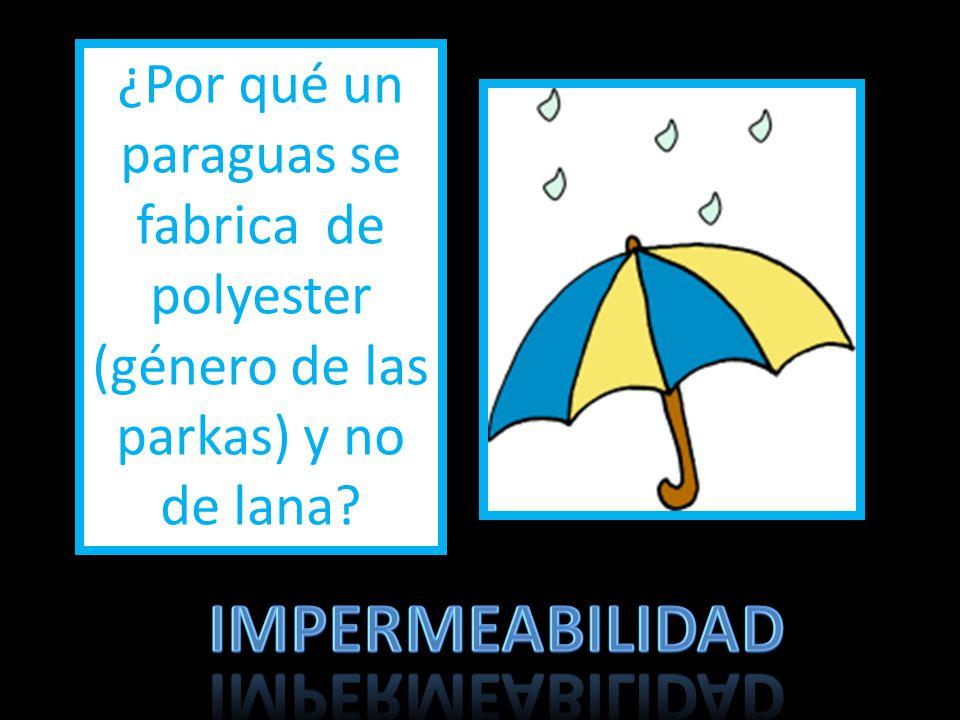 ¿Por qué un paraguas se fabrica de polyester (género de las parkas) y no de lana