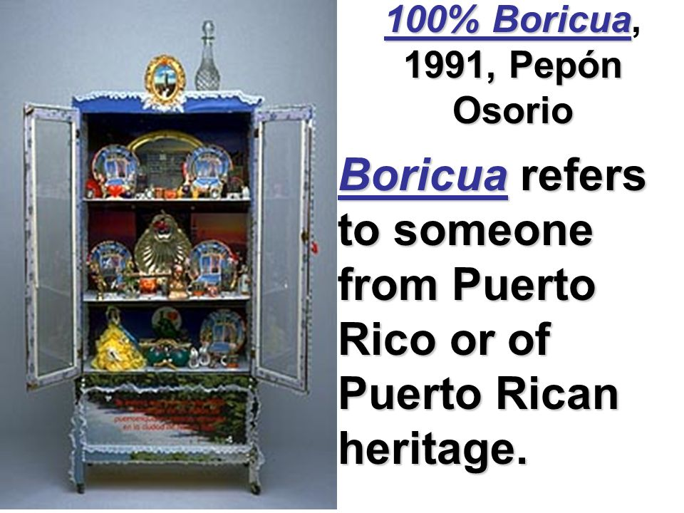 Boricua refers to someone from Puerto Rico or of Puerto Rican