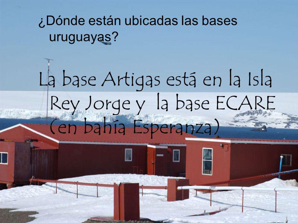 ¿Dónde están ubicadas las bases uruguayas