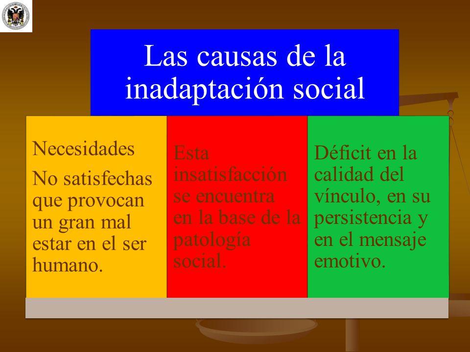 Las causas de la inadaptación social