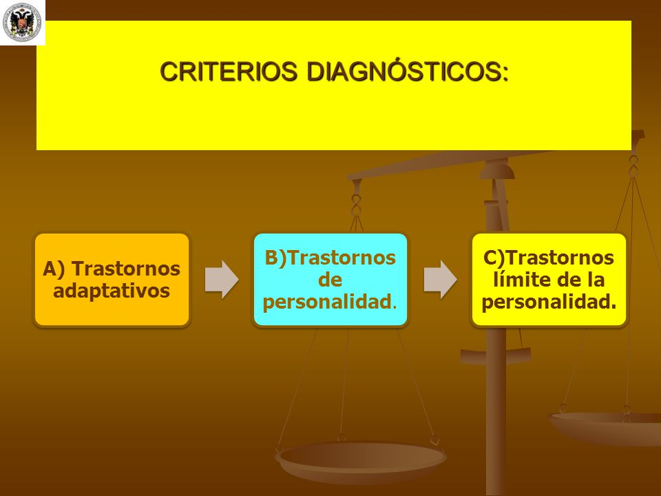 CRITERIOS DIAGNÓSTICOS: