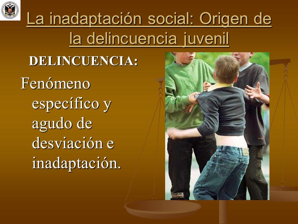 La inadaptación social: Origen de la delincuencia juvenil