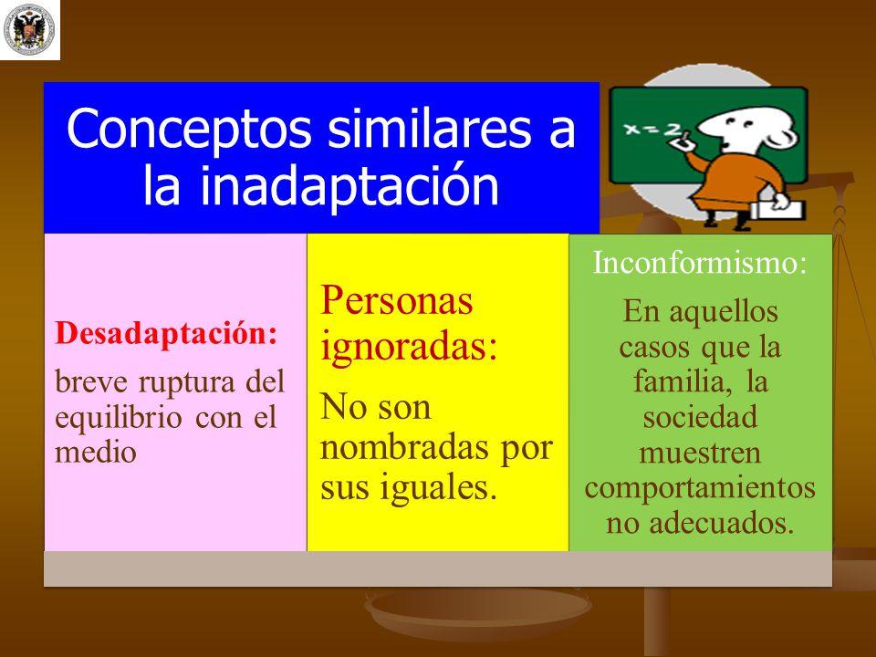 Conceptos similares a la inadaptación