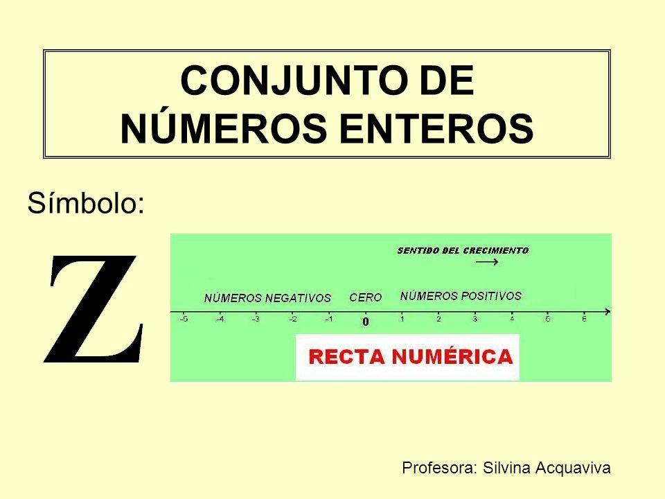 CONJUNTO DE NÚMEROS ENTEROS