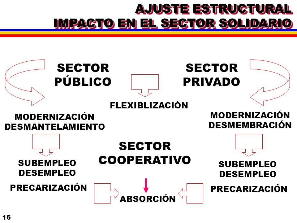 AJUSTE ESTRUCTURAL IMPACTO EN EL SECTOR SOLIDARIO