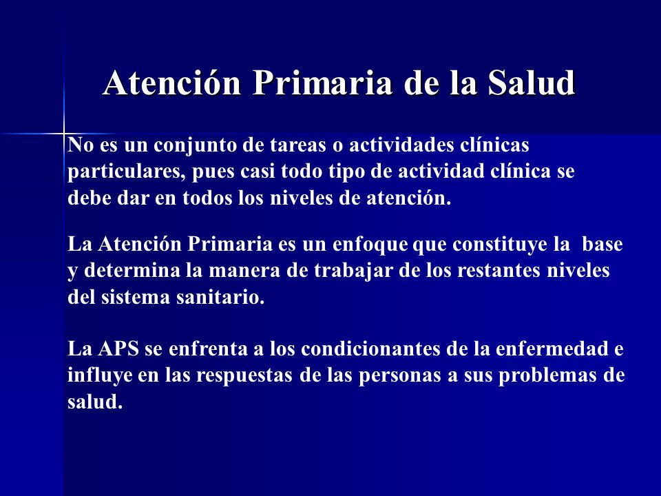 Atención Primaria de la Salud