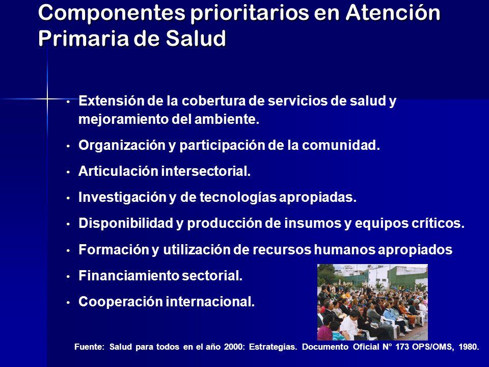 Componentes prioritarios en Atención Primaria de Salud
