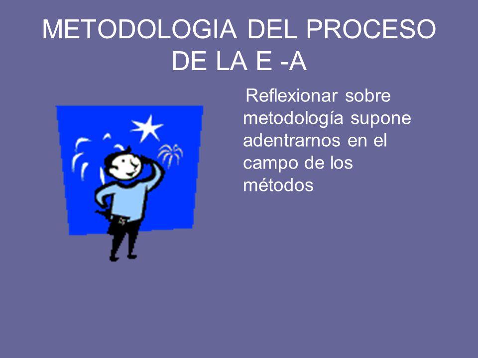 METODOLOGIA DEL PROCESO DE LA E -A