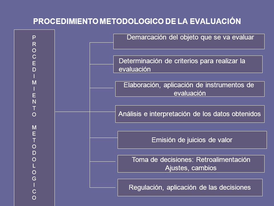 PROCEDIMIENTO METODOLOGICO DE LA EVALUACIÓN