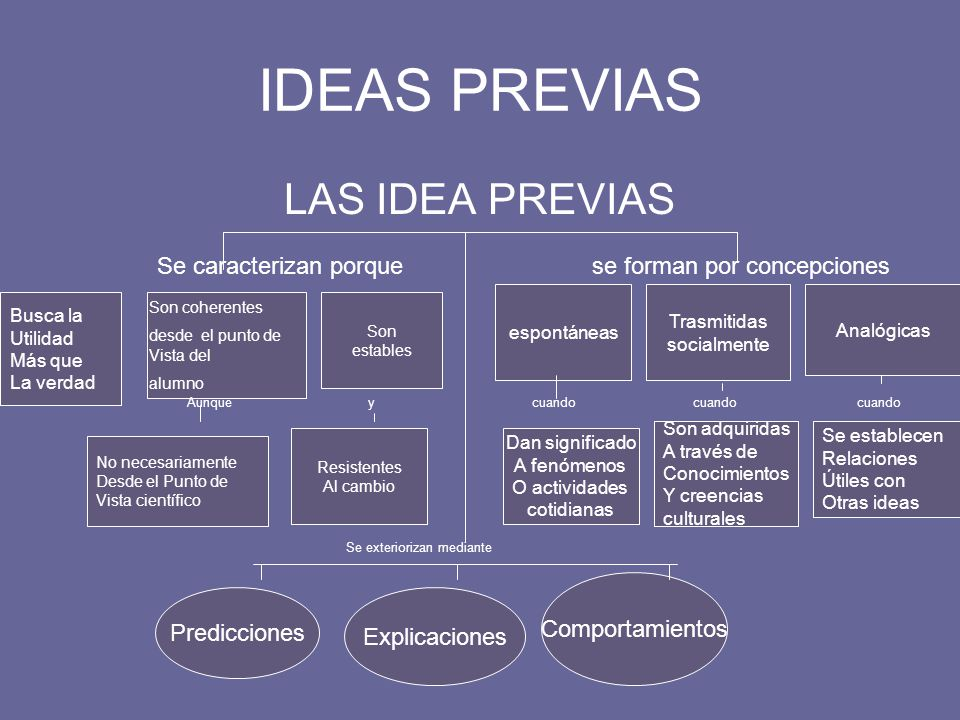 IDEAS PREVIAS LAS IDEA PREVIAS
