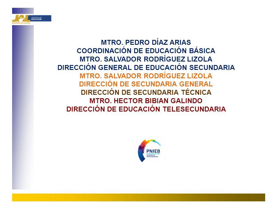 COORDINACIÓN DE EDUCACIÓN BÁSICA MTRO. SALVADOR RODRÍGUEZ LIZOLA