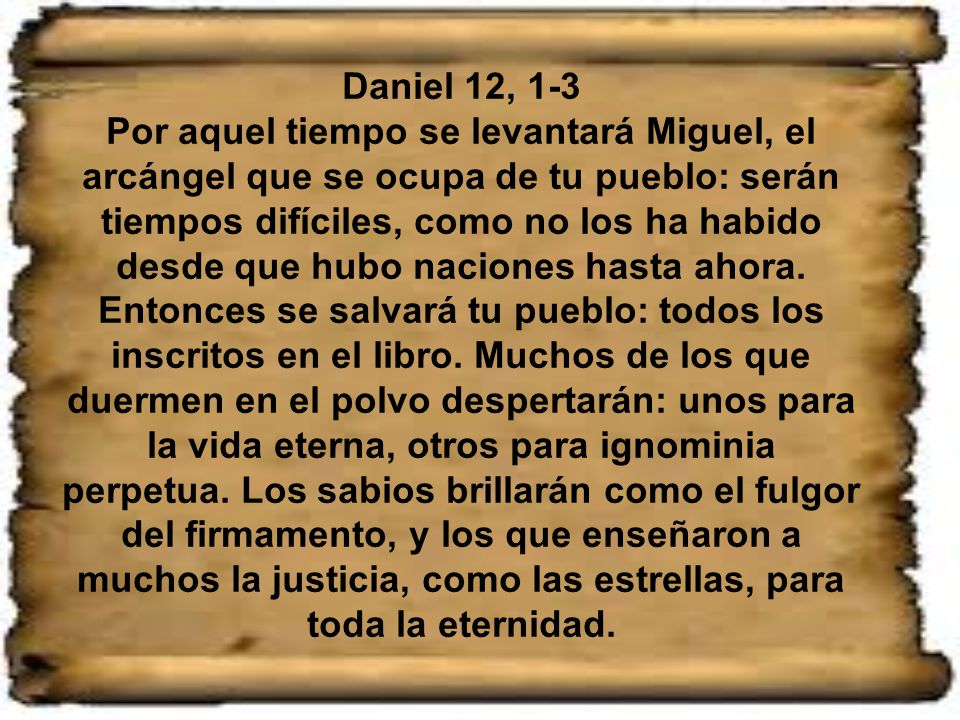 Daniel 12, 1-3