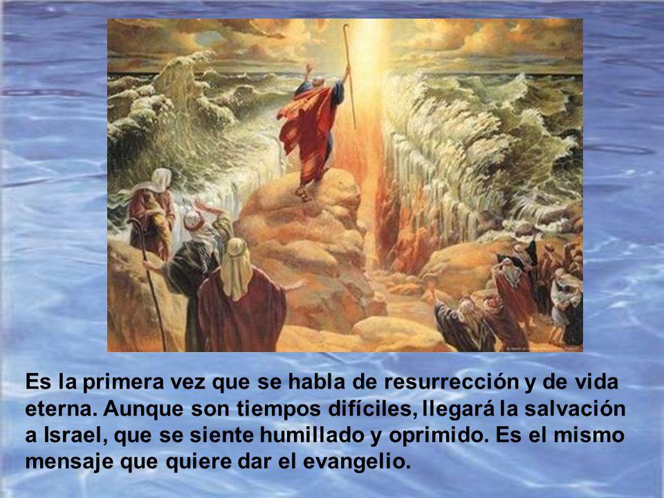 Es la primera vez que se habla de resurrección y de vida eterna