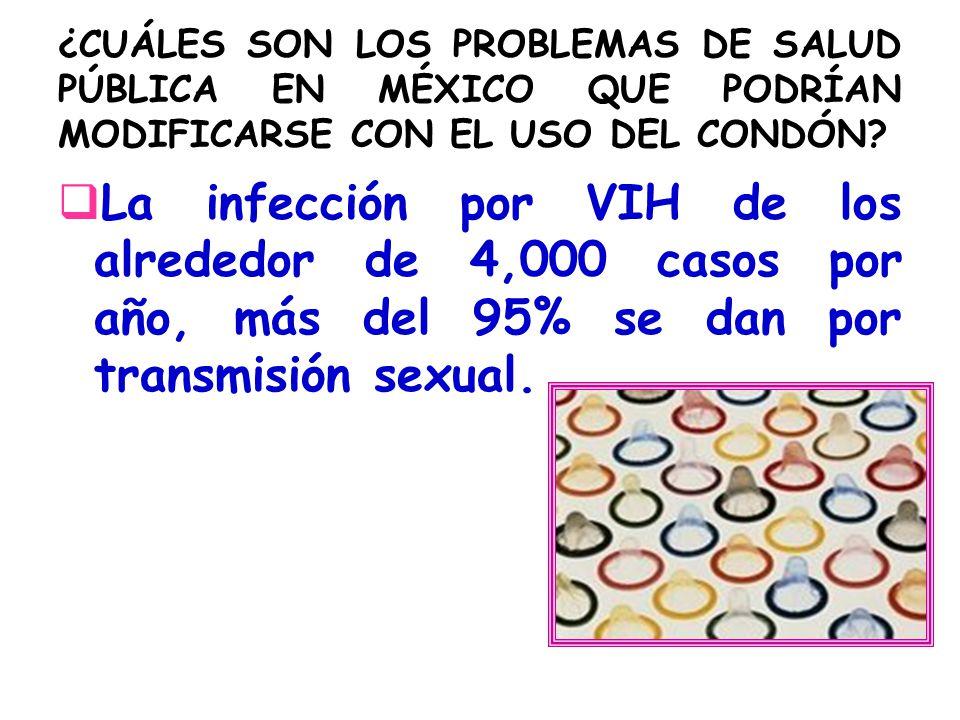 ¿CUÁLES SON LOS PROBLEMAS DE SALUD PÚBLICA EN MÉXICO QUE PODRÍAN MODIFICARSE CON EL USO DEL CONDÓN