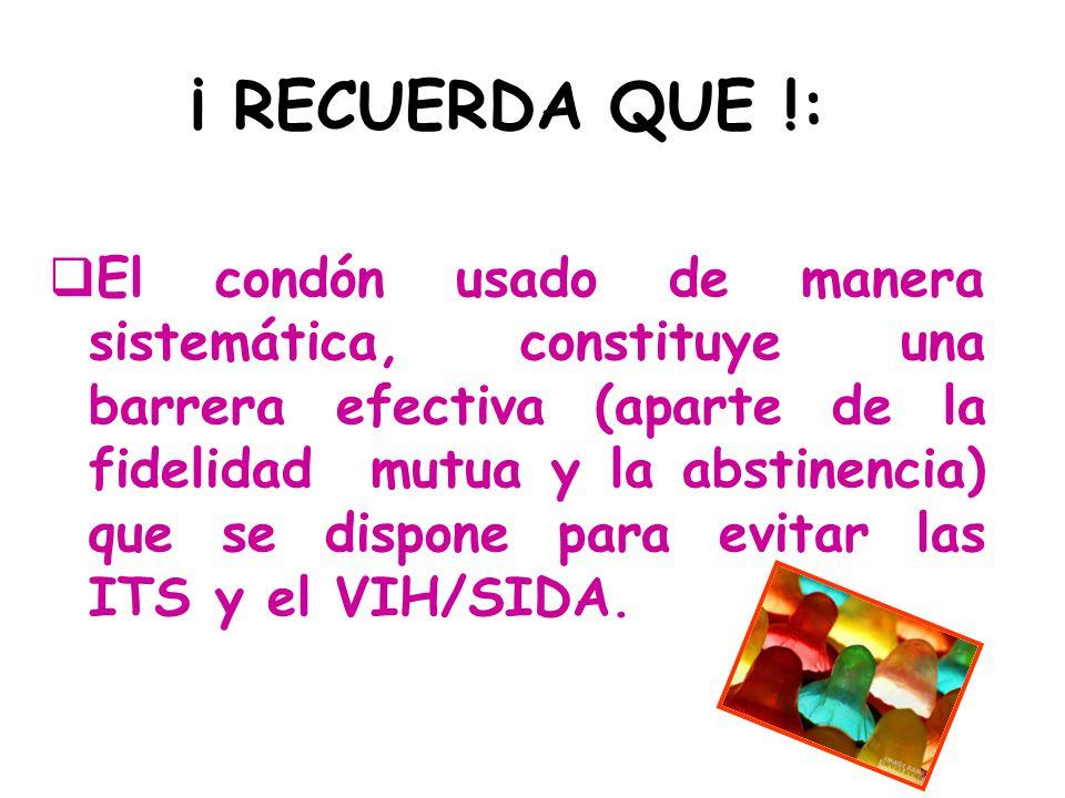 ¡ RECUERDA QUE !: